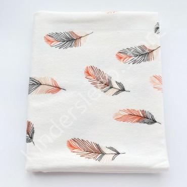 Фланелевая пеленка 100х80 см «Перья»