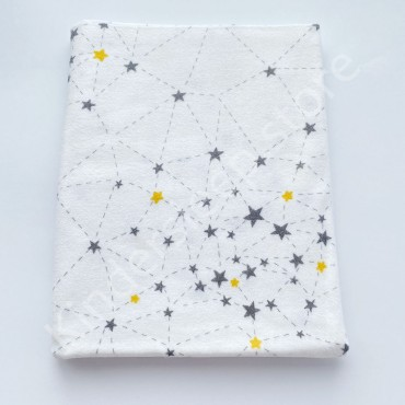 Фланелевая пеленка 100х80 см «Созвездие» черно-желтая