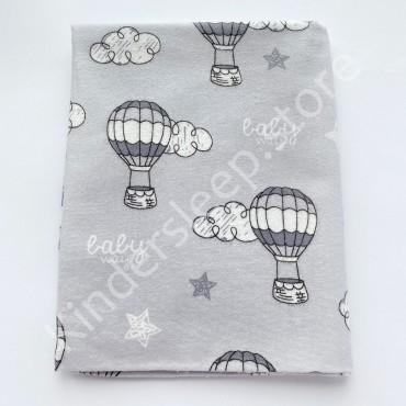 Фланелевая пеленка 100х80 см «Воздушные шары»