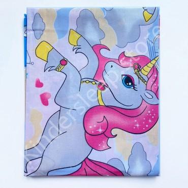 Хлопковая пеленка 100х80 см «Единорог розовый» Розовая