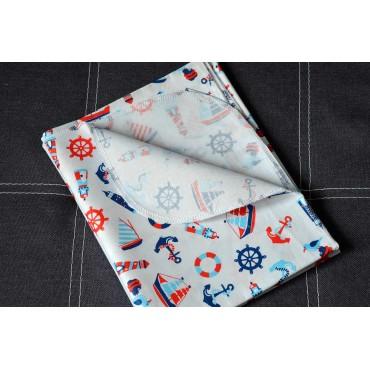 Хлопковая многоразовая пеленка «Морские»