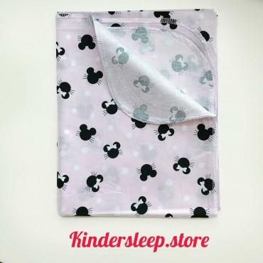 Хлопковая пеленка 100х80 см «Микки» розовая