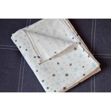 Муслиновая пеленка 100х80 см «Звездочки» белая