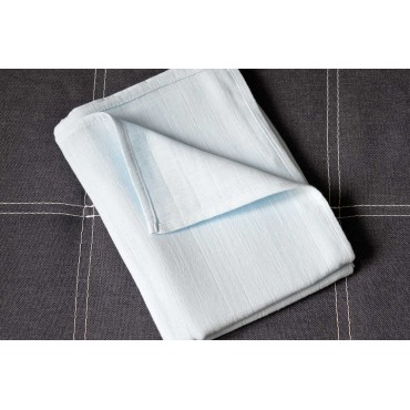 Муслиновая пеленка 100х80 см «Голубая» однотон