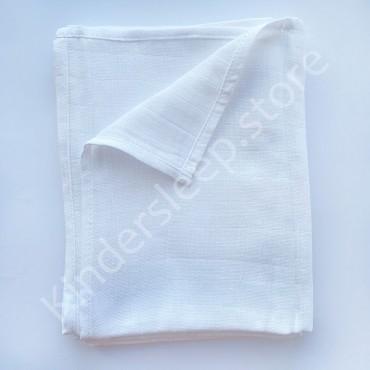 Муслиновая пеленка 100х80 см «Белая» однотон