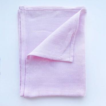 Муслиновая пеленка 100х80 см «Розовая» однотон