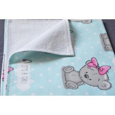 Непромокаемая пеленка «Мишка Тедди девочка»