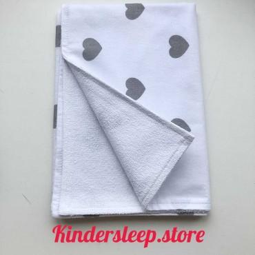 Непромокаемая пеленка 70х50 см, Бязь, «Сердечки»