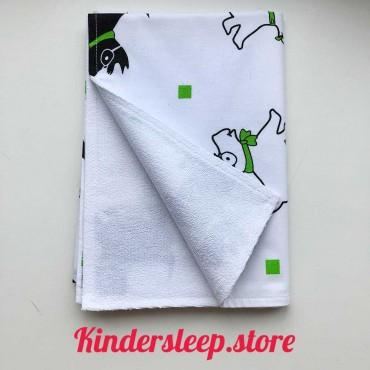 Непромокаемая пеленка 70х50 см, Бязь, «Собачки»