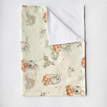 Непромокаемая пеленка 70х50 см, Сатин, «Зайки»