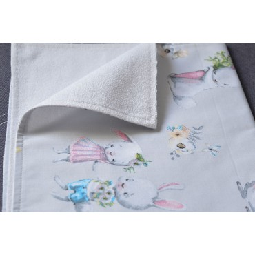 Непромокаемая пеленка 70х50 см, Сатин, «Зайки №2»