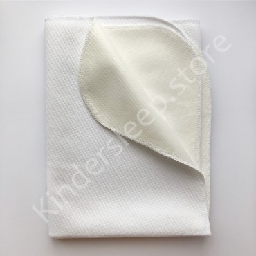 Непромокаемая пеленка 95х65 см, Белая