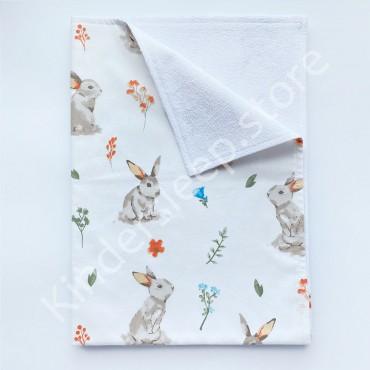 Непромокаемая пеленка 70х50 см, Бязь, «Лесной зайчик»