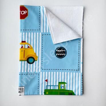 Непромокаемая пеленка 70х50 см, Сатин, «Машинки»