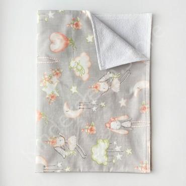 Непромокаемая пеленка 70х50 см, Сатин, «Мишки на облаках»