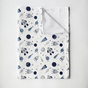 Непромокаемая пеленка 70х50 см, Бязь, «Космос»