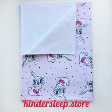 Непромокаемая пеленка «Зайчик» розовая