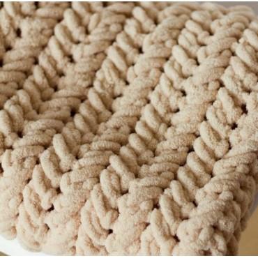 Плед Puffy плетение Колосок