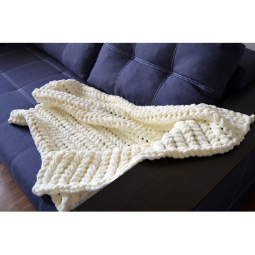Плед Puffy плетение Колосок 90х90