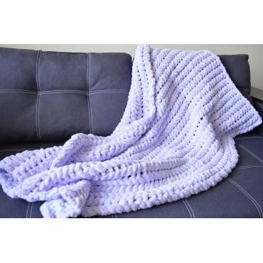 Плед Puffy плетение Колосок 80х120