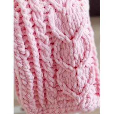 Плед Puffy плетение Сердца 60х80