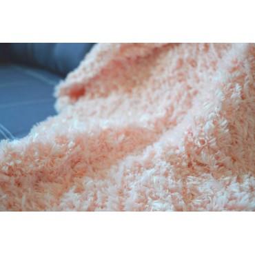 Плед Puffy плетение Восьмерка 80х80 персиковый