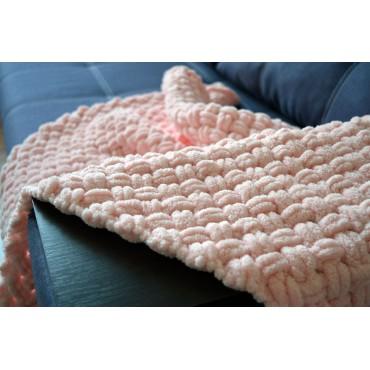 Плед Puffy плетение Плетенка 90х90