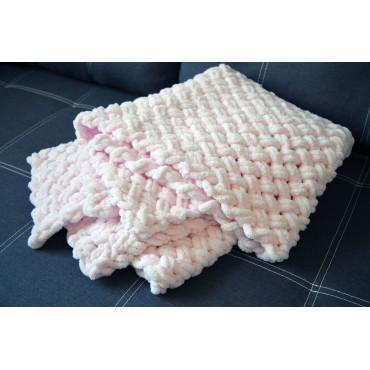 Плед Alize Puffy «Плетенка» 80х120, Розовый
