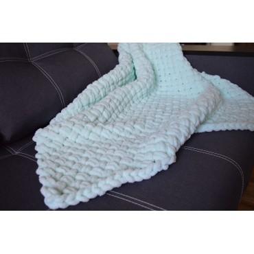 Плед Puffy плетение Плетенка 80х80
