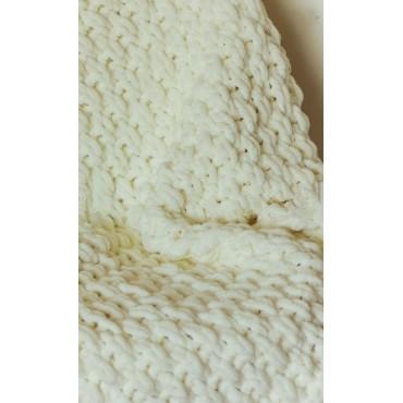 Плед Puffy плетение Путанка 60х80