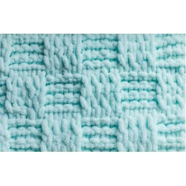 Плед Puffy плетение Шашечки 90х90