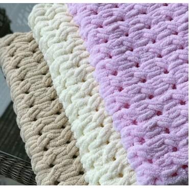 Плед Puffy плетение Восьмерка 60х80