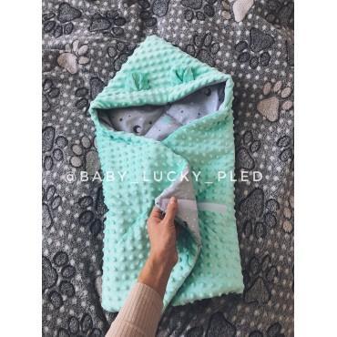 Конверт для новорожденного «Звездочки с мятным плюшем»