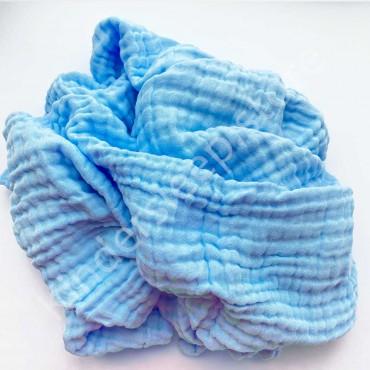 Плед детский муслиновый 6 слойный, 95/95 см Голубой