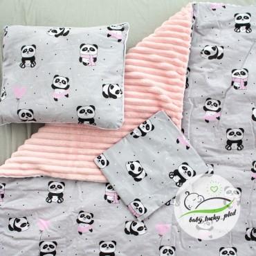 Набор в коляску (кроватку) 3 предмета «Панды»