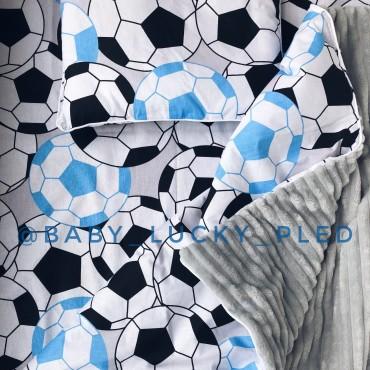Набор в коляску (кроватку) 3 предмета «Футбольные мячи»