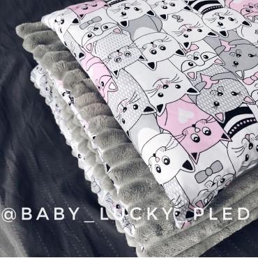 Набор в коляску (кроватку) 3 предмета «Розовые котики»