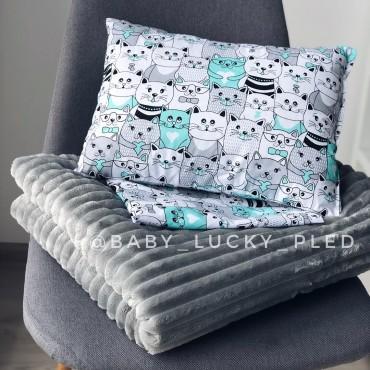 Набор в коляску (кроватку) 3 предмета «Зеленые котики»
