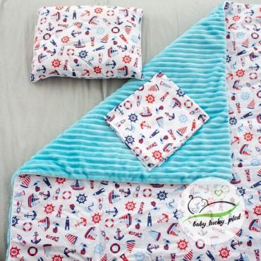 Набор в коляску (кроватку) 3 предмета «Кораблики»