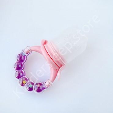 Ниблер c погремушкой, Фиолетово-розовый