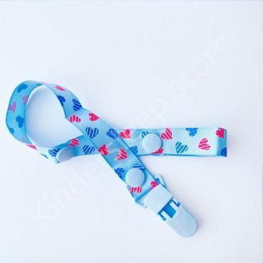 Держатель-клипса для пустышки и грызунков, цвет голубой