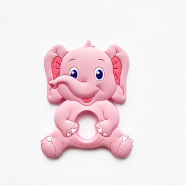 Грызунок игрушка Слоник Розовый
