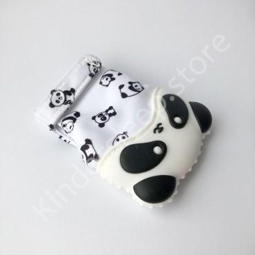 Перчатка грызунок (митенка), прорезыватель для зубов Панда