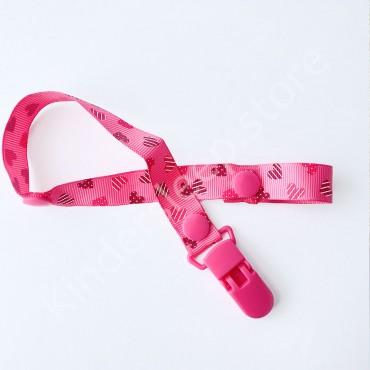 Держатель-клипса для пустышки и грызунков, цвет розовый